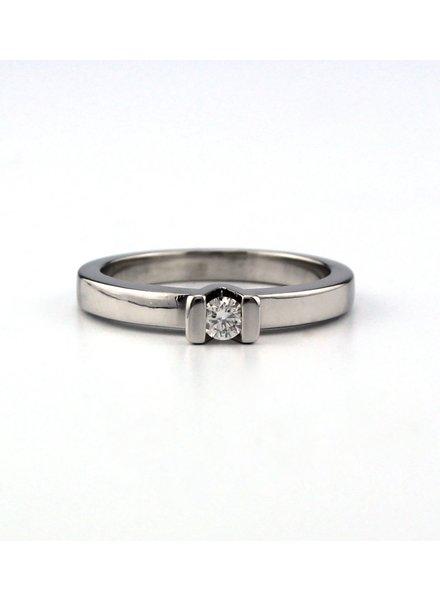 ROEMER ROEMER witgouden ring met briljant