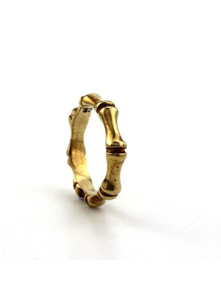 Dji Dji Italia Dji Dji, Zilveren ring, Bamboo Geel.