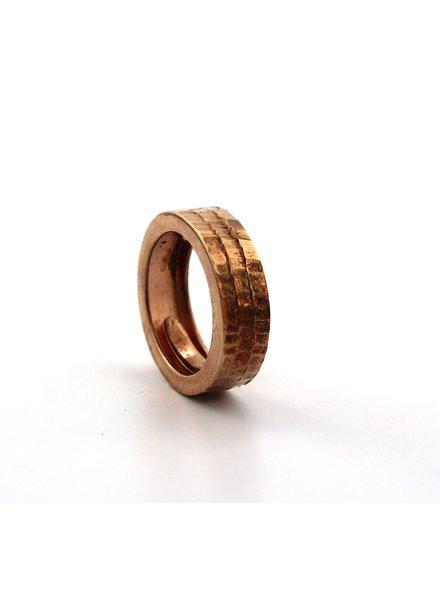 Dji Dji, Zilveren fantasie ring, maat 16,5.