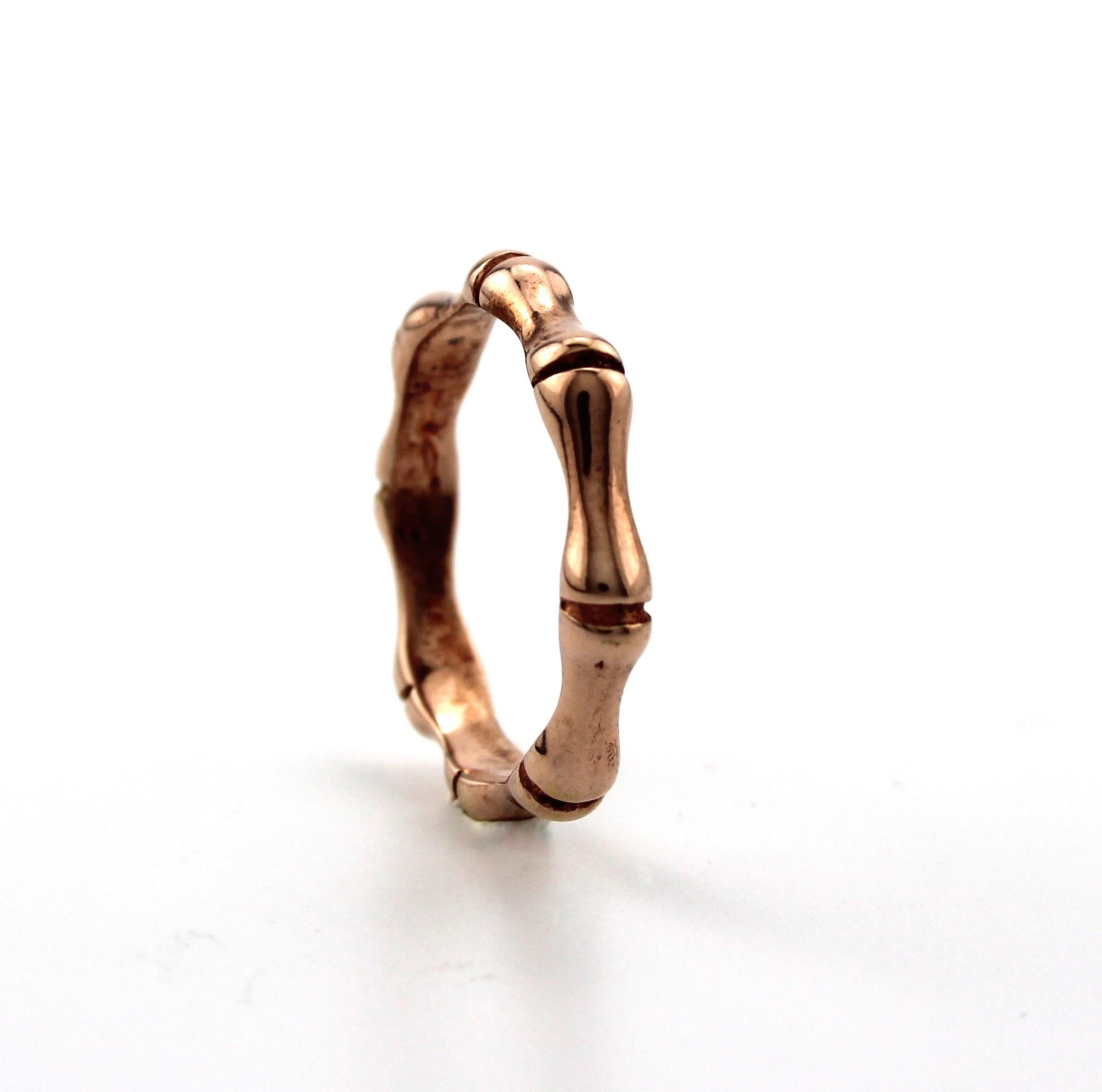 Dji Dji, Zilveren ring, Bamboo Rosé.