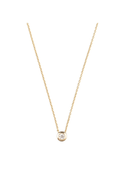 Just Franky Just Franky Capital Necklace 1 Diamond 39/41 cm