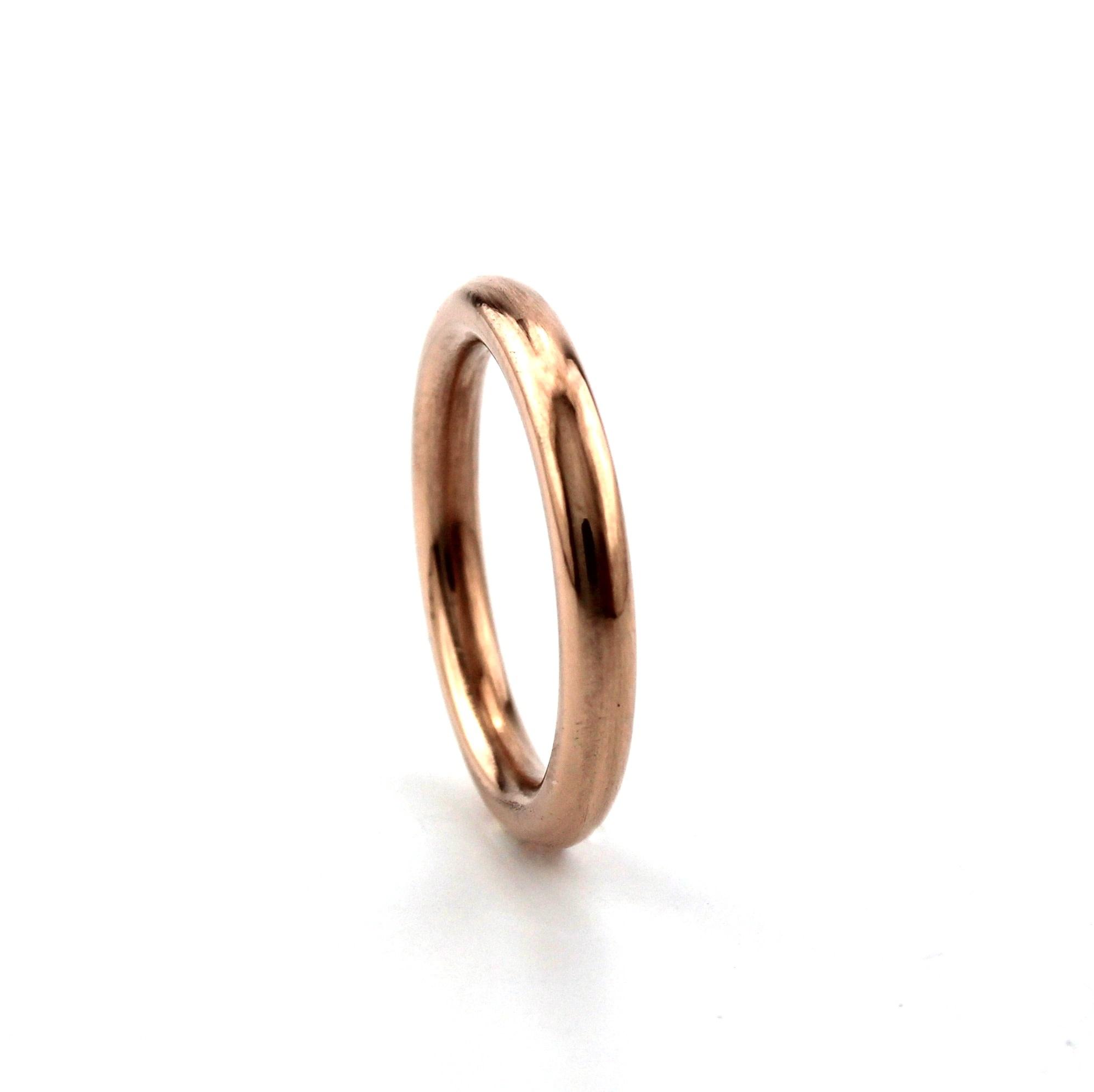 Tomylo Tomylo gladde ring rosegoud