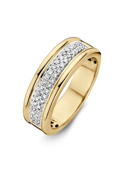 ROEMER ROEMER bicolor gouden ring met briljant