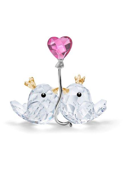 Swarovski Swarovski Tortelduifjes met een roze hart 5492226