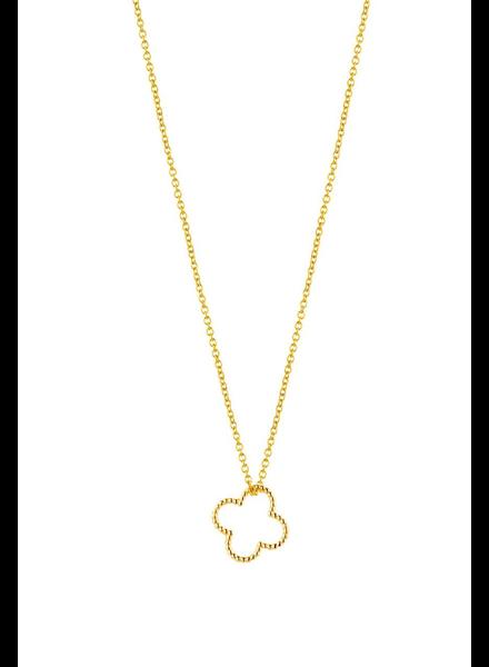 Just Franky Just Franky Vintage Clover Necklace 39/41 cm