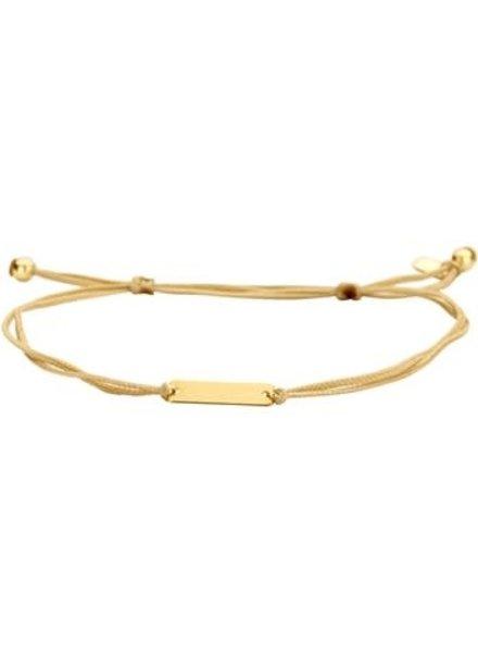 Tomylo Tomylo armband goud/nylon