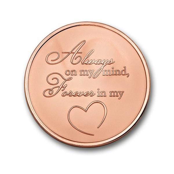 Munt Moneda Angel & Heart Rose medium
