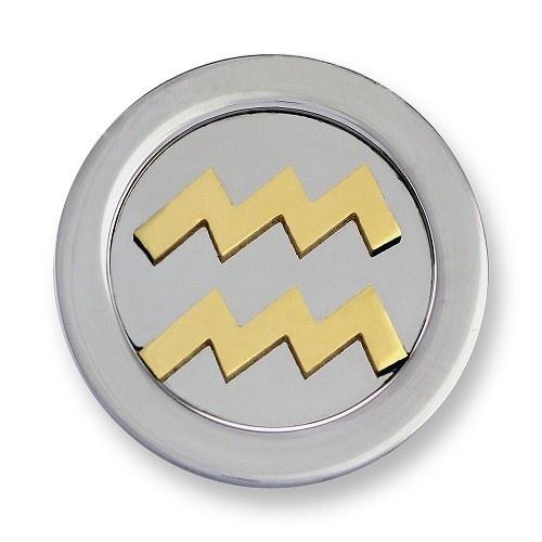 Mi Moneda Munt Zodiac Waterman Gold Small