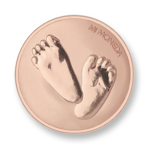 Mi Moneda Munt Baby Feet Rose