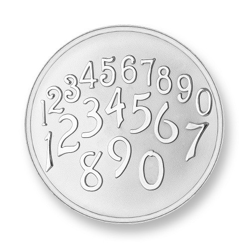 Mi Moneda Munt Phatos & Numbers Silver Small