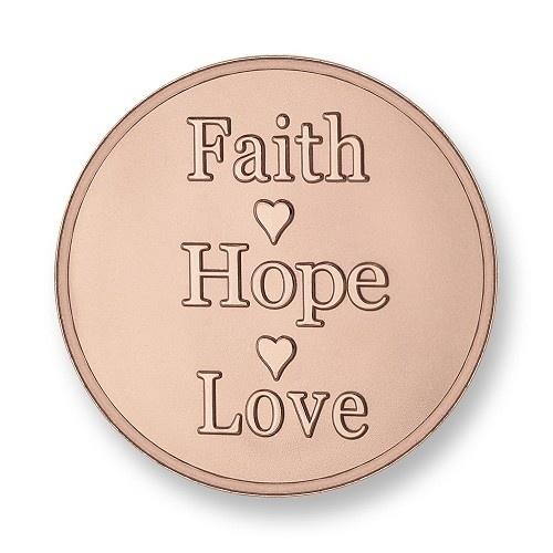 Mi Moneda munt Faith Hope Believe Rose small
