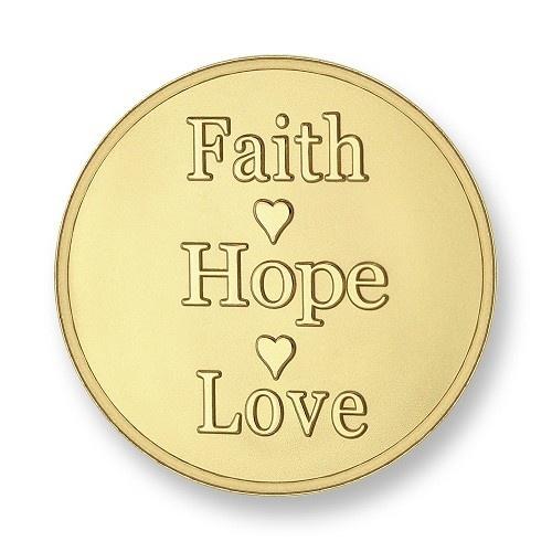 Mi Moneda Munt Faith Hope Love Gold Small