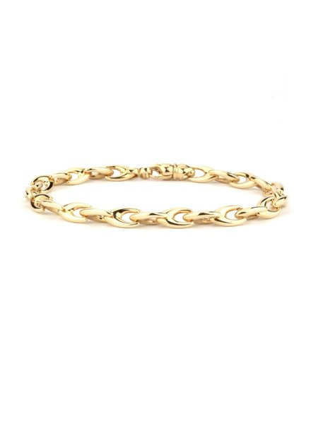 ROEMER ROEMER geelgouden fantasieschakel armband