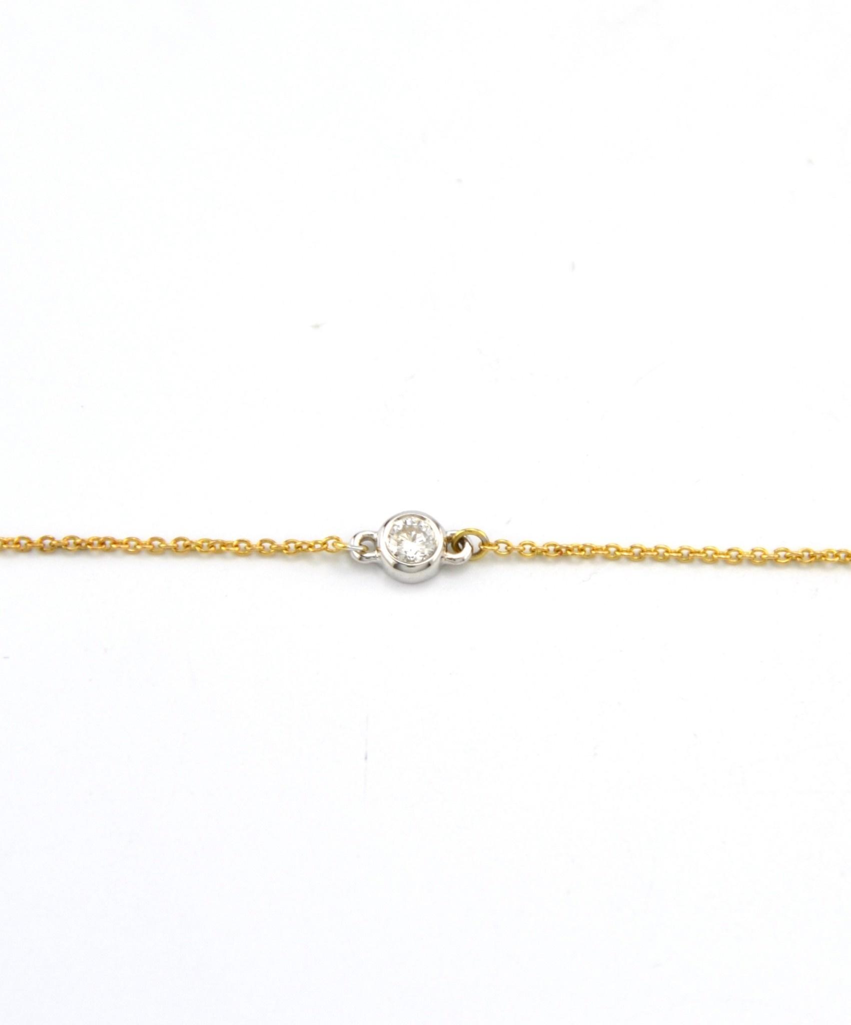 Tomylo 14 kt bicolor gouden armband met 0.10 karaat