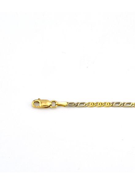Tomylo 14 kt geelgouden armband valkenoog