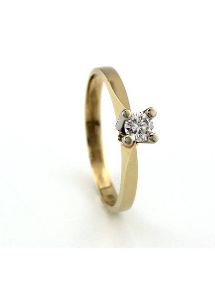 ROEMER ROEMER geelgouden ring met briljant