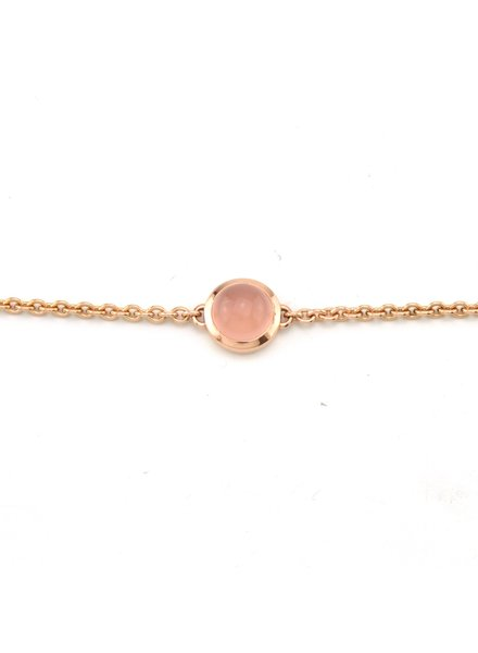 ROEMER by Bregje ROEMER by Bregje roségouden armband met roze Chalcedoon