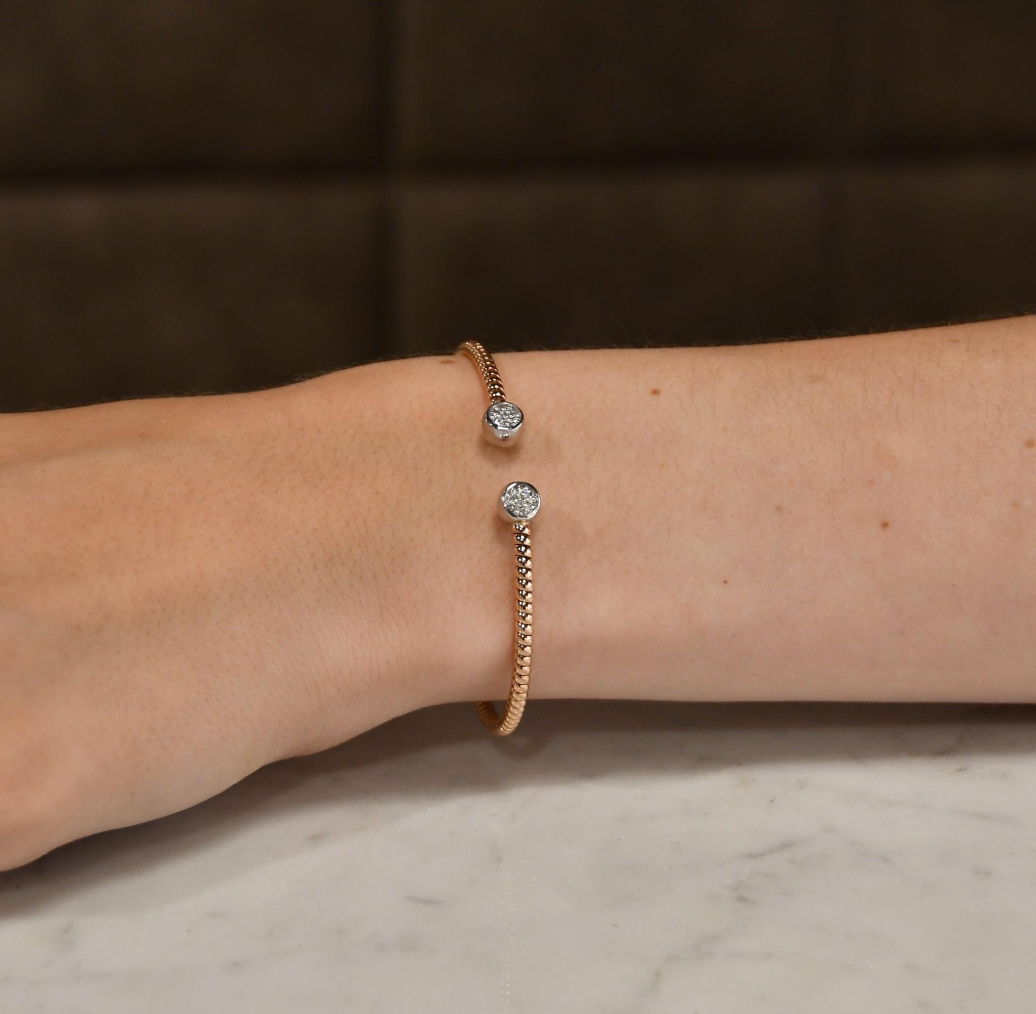 ROEMER ROEMER armband roségoud met 0.21ct. TW/SI
