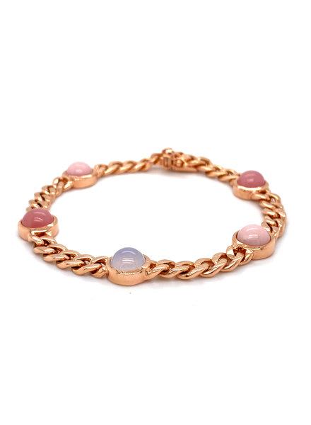 ROEMER Monzario 1255A rosegouden armband met kleurstenen