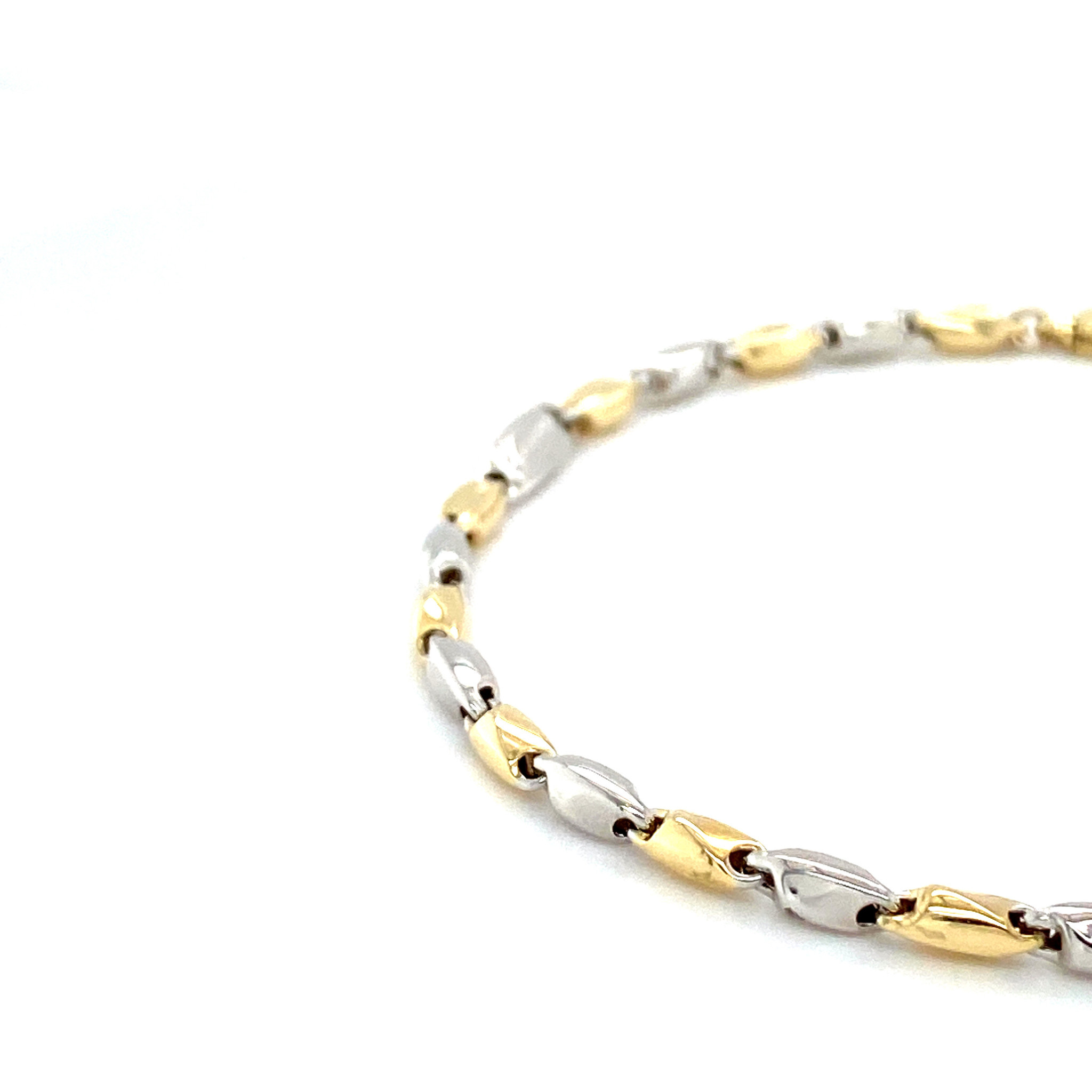 Monzario Oro Monzario armband 837Abic 19cm wit/geelgoud 14k.
