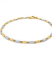 Monzario Oro Monzario armband 865Abic 19cm. geel/witgoud 14k