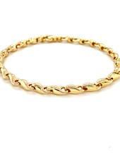 Monzario Oro Monzario armband 1081A 19cm. 14 kt. geelgoud