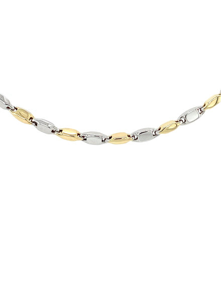 Monzario Oro Monzario Collier 1182cbic. 45cm geel/witgoud 14k