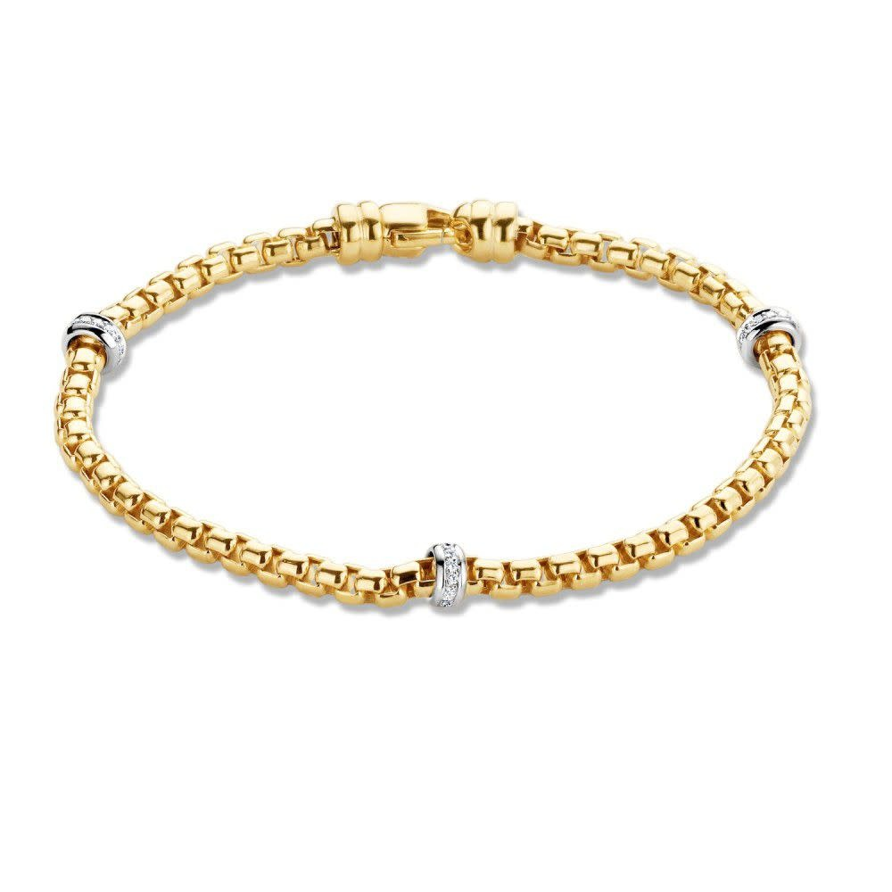 ROEMER 14 kt. Gouden armband met  0.20ct. Si/W