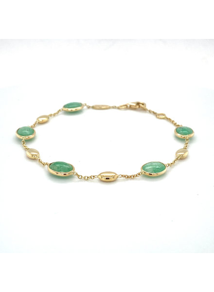 Monzario Oro Monzario geelgouden armband met Smaragd 1249A