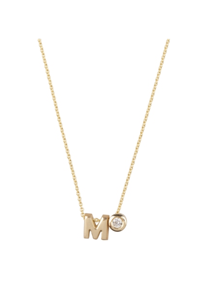 Just Franky Just Franky Capital necklace M with diamond 42-44