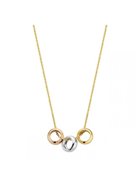 Just Franky Just Franky Triple Love necklace 42-44