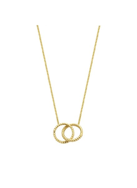 Just Franky Just Franky Vintage Double Open Circles necklace 39-41