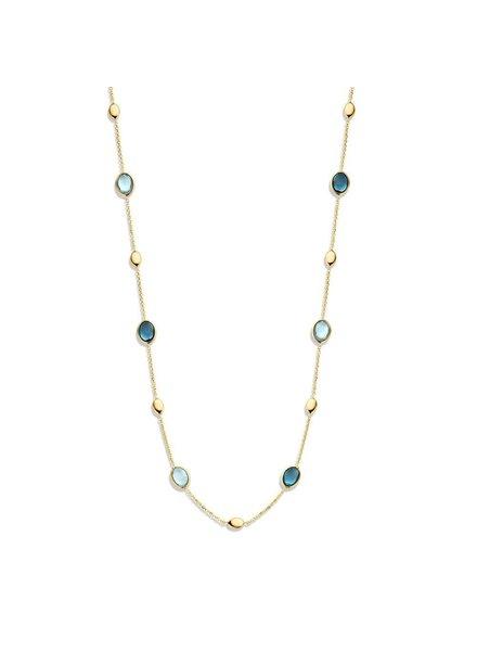 ROEMER Roemer geelgouden collier met Blauwe Topaas