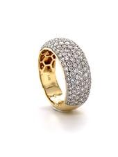 ROEMER ROEMER geelgouden ring met pavé briljant