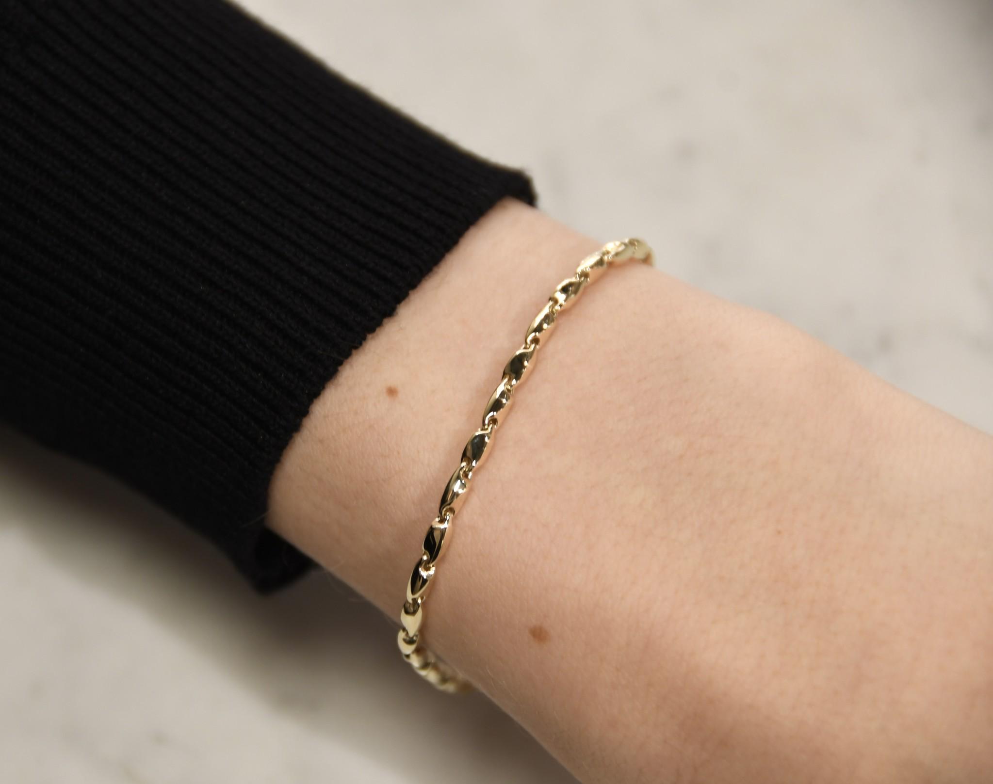 Monzario Oro Monzario Oro 14kt gouden armband 837A geel