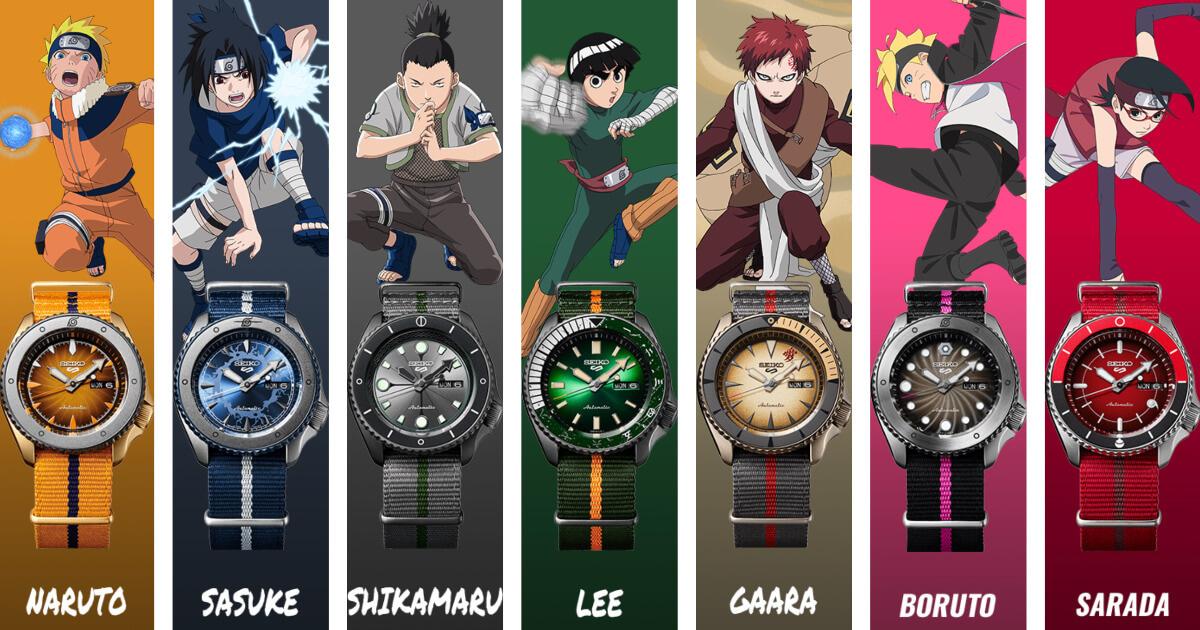 Seiko Seiko 5 Sports horloge Ninja Shikamaru SRPF75K1 Limited Edition