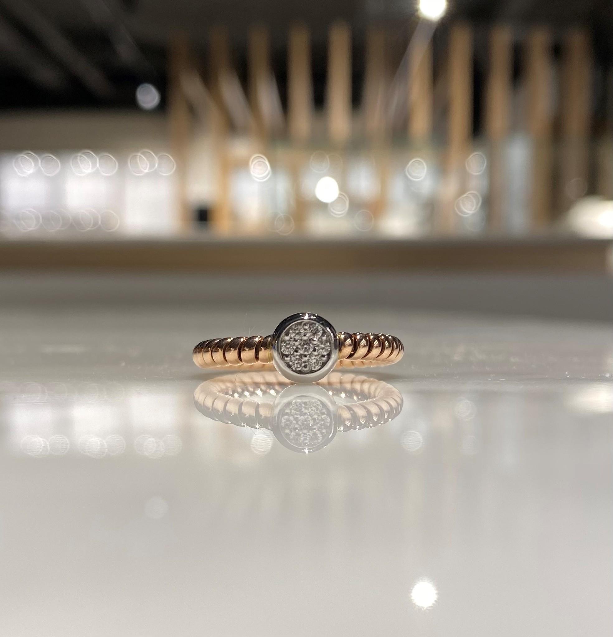 ROEMER ROEMER bicolor ring met briljanten