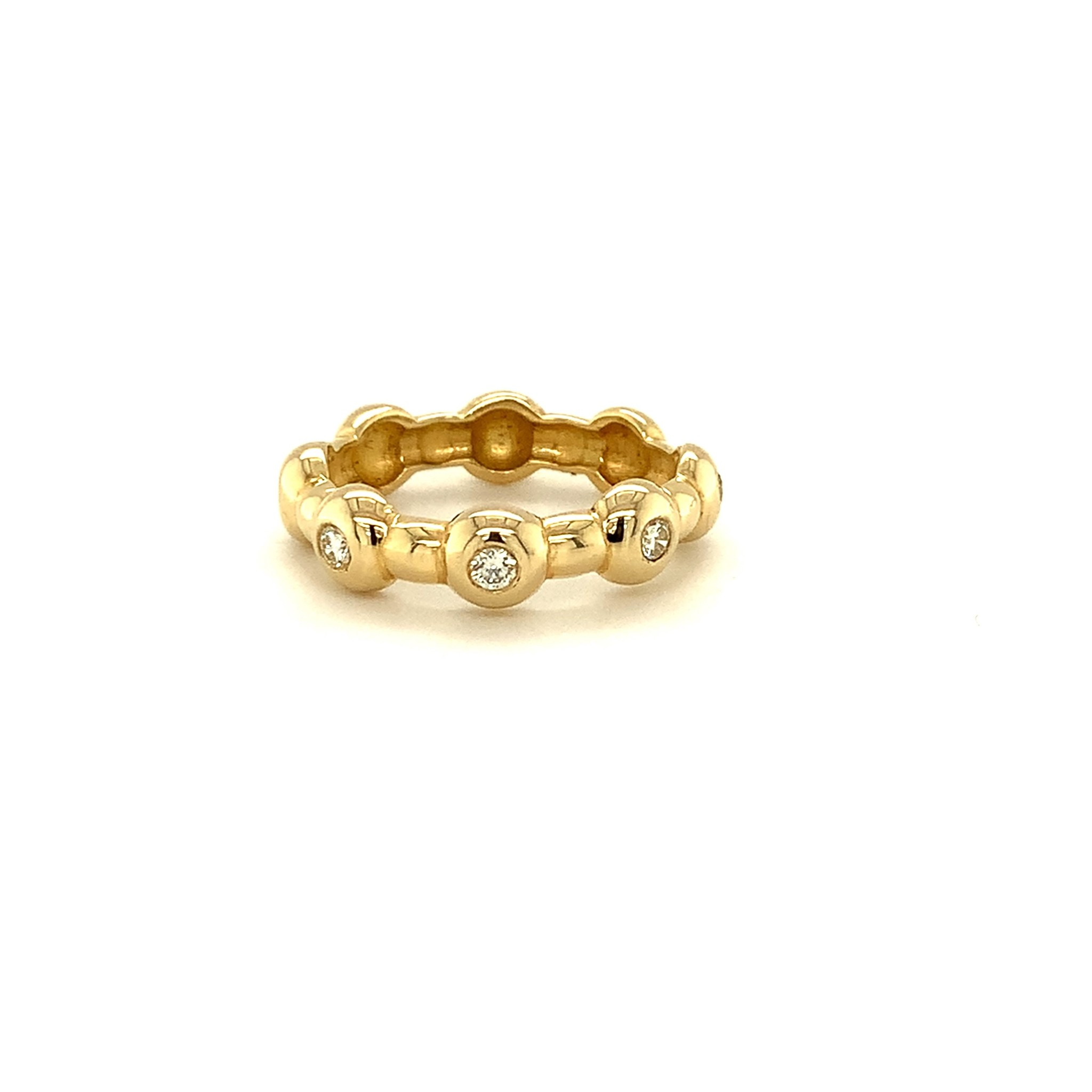 """ROEMER by Bregje ROEMER by Bregje geelgouden ring """"drops"""""""