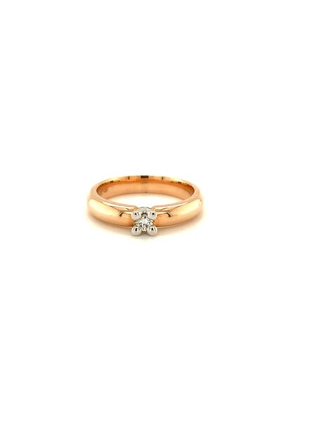 Passione Passione ring met 0,09 ct. briljant GD1802 14K /55