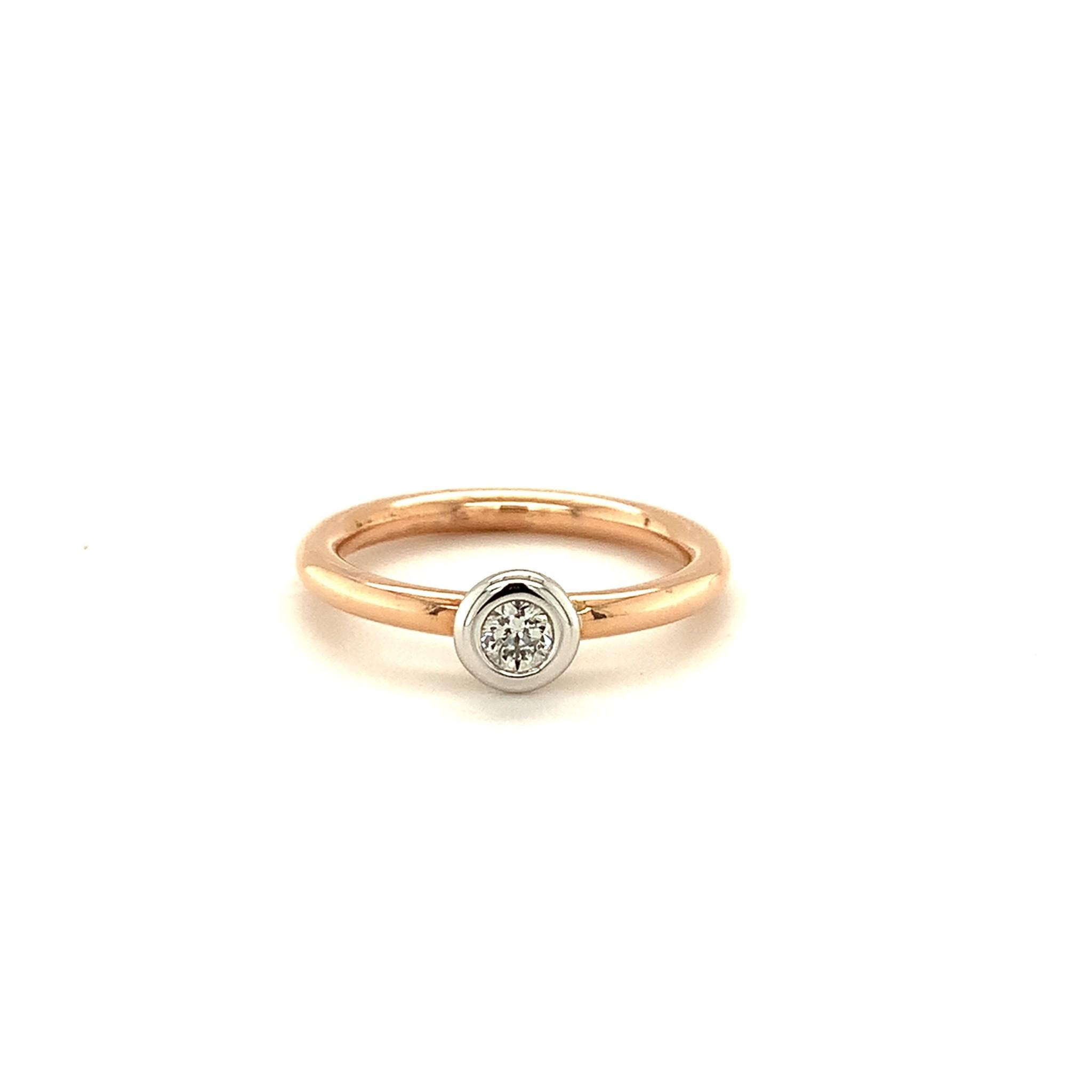 ROEMER by Bregje ROEMER by Bregje rosegouden ring met 0.20ct diamant