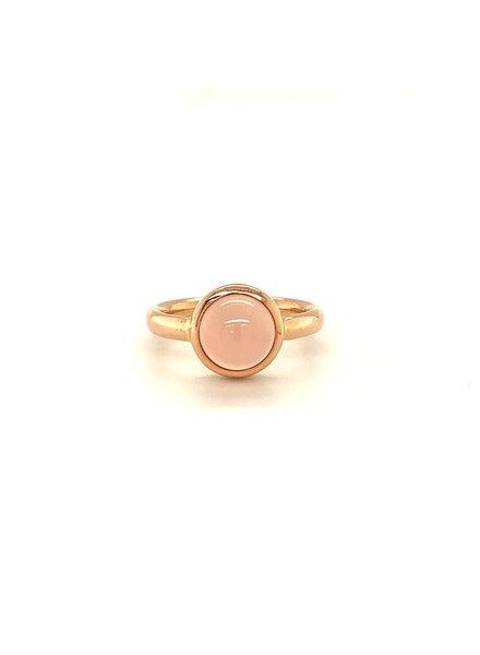 ROEMER by Bregje ROEMER by Bregje roségouden ring met roze Chalcedoon