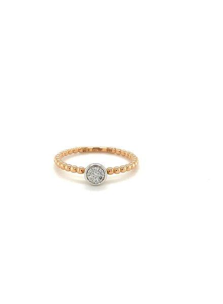 Passione Tomylo Passione ring met 0.05 ct. diamant H/Si /54
