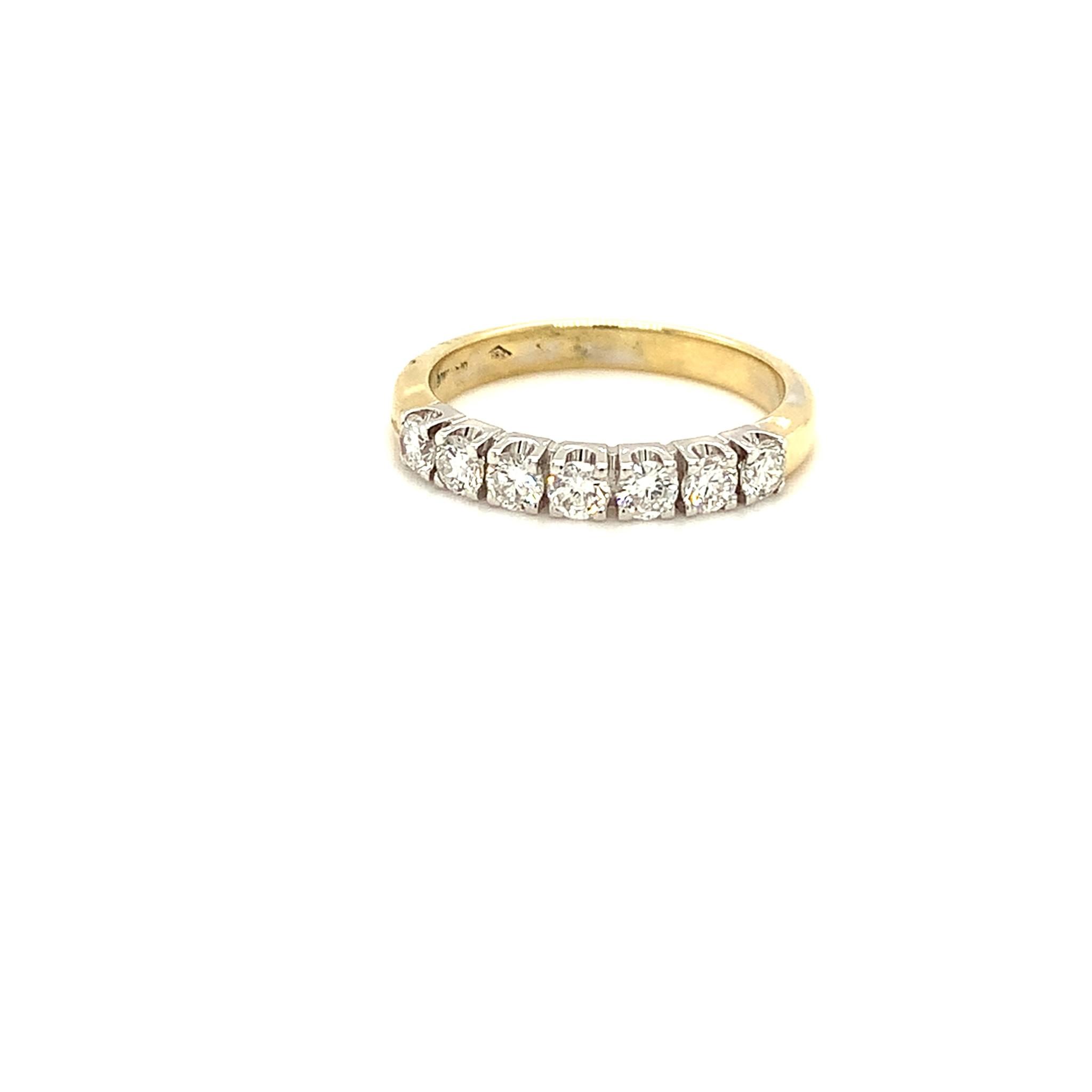 ROEMER ROEMER bicolor gouden Riviera ring met briljanten