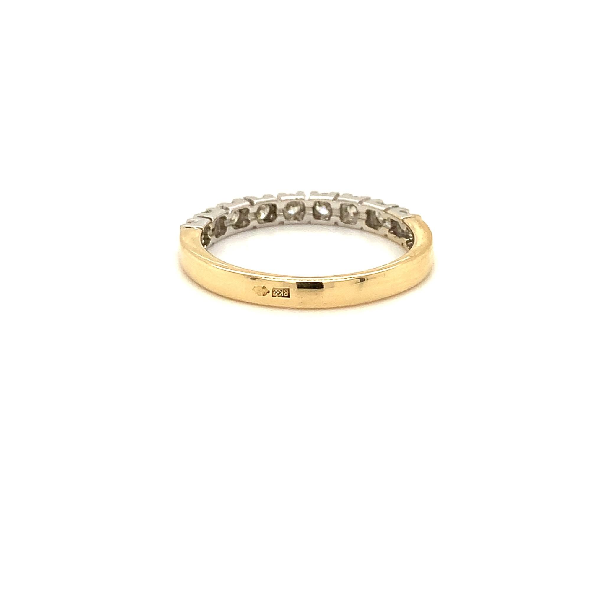 ROEMER ROEMER bicolor gouden ring met diamant