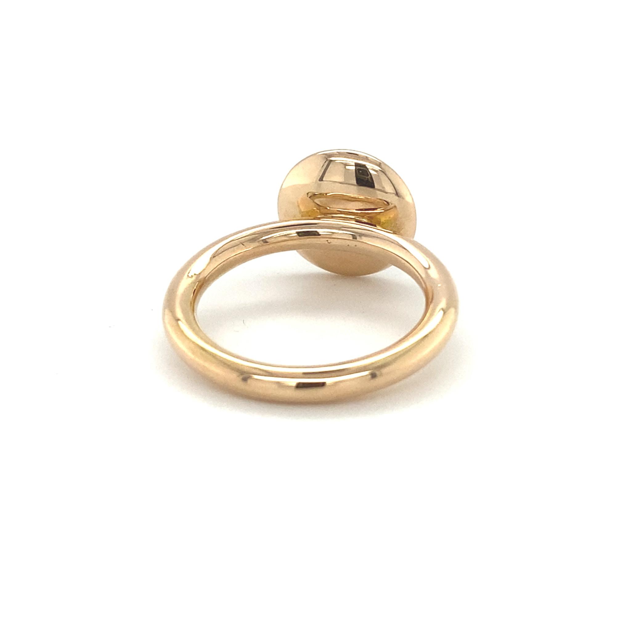 ROEMER by Bregje ROEMER by Bregje 18K rosegouden ring met maansteen