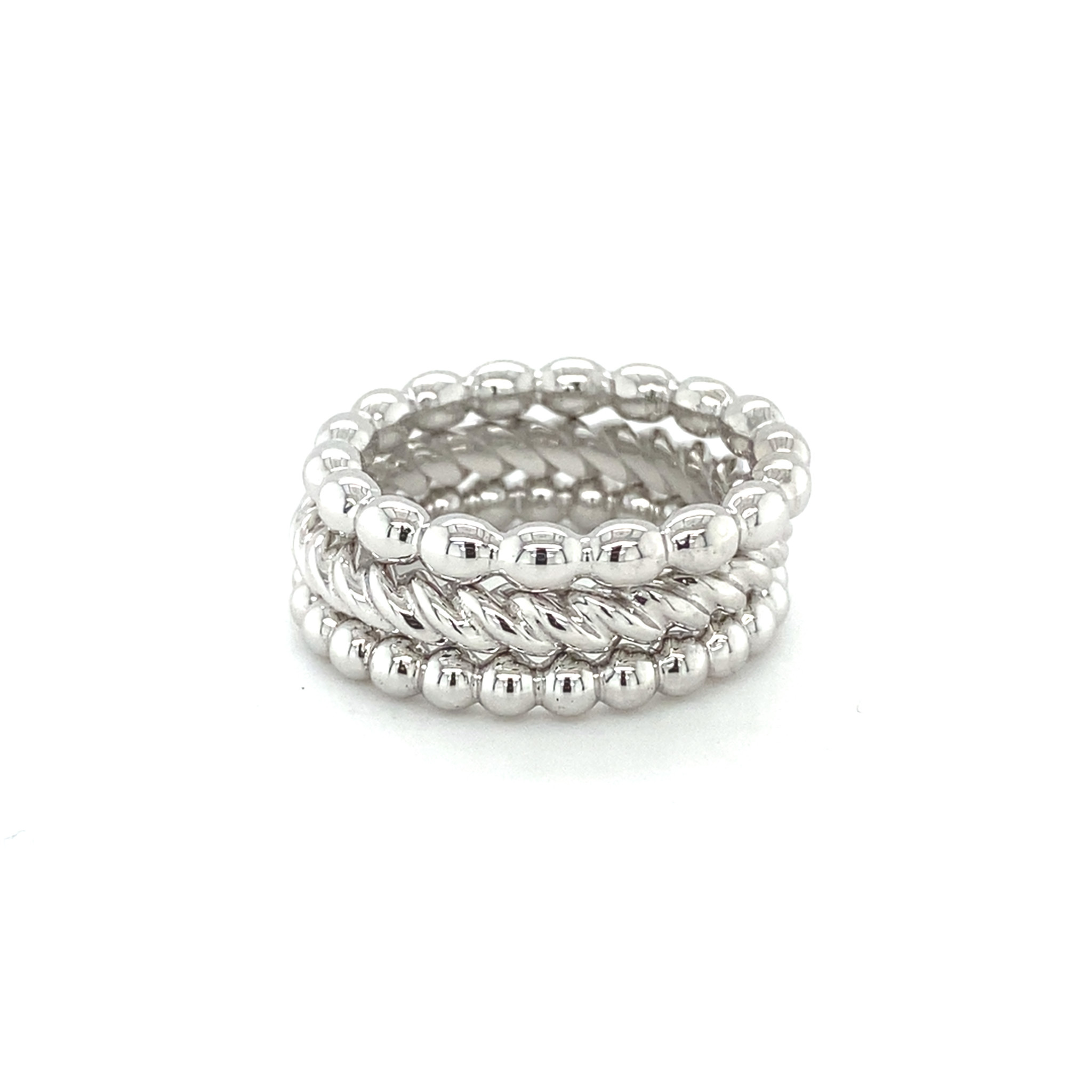 ROEMER by Bregje ROEMER by Bregje 18Kwitgouden ring BUBBLES small