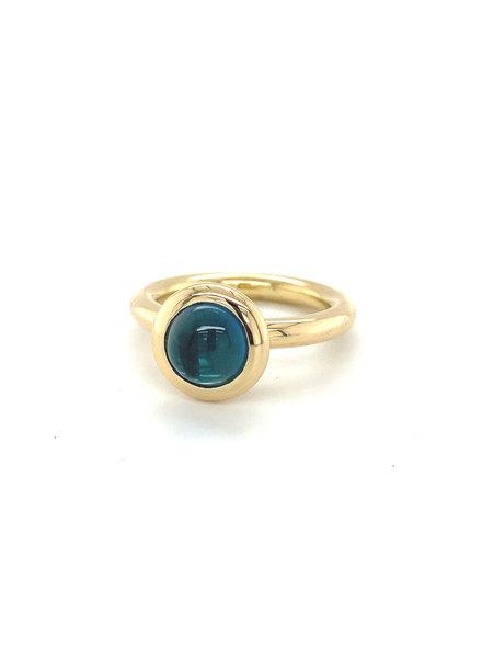 ROEMER by Bregje ROEMER by Bregje geelgouden ring met London Blue Topaas