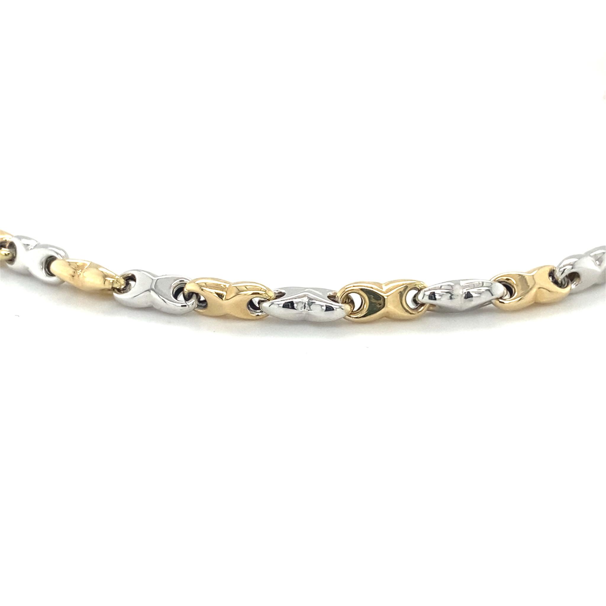 Monzario Oro Monzario geel met witgouden collier 80C