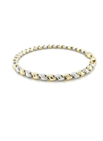 Monzario Oro Monzario bicolor gouden armband 838A