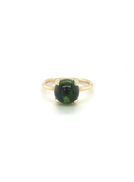 ROEMER by Bregje ROEMER by Bregje geelgouden ring met groene Toermalijn